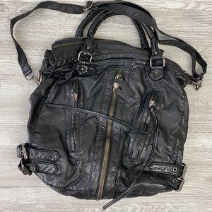 Deena & Ozzy Large Black Tote Bag